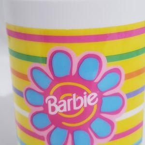 Vintage Rare HTF Barbie Flower Insulated Thermos